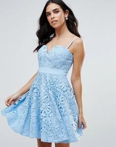 Платье для выпускного с вырезом сердечком Forever Unique - Синий