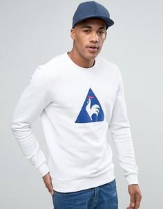 Белый свитшот с круглым вырезом и логотипом с набивкой флок Le Coq Sportif 1710448 - Белый