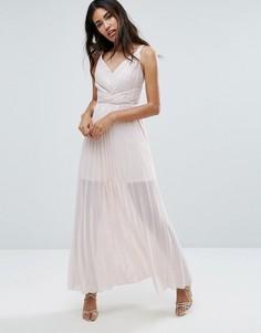 Плиссированное платье макси TFNC - Бежевый
