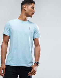 Меланжевая футболка с круглым вырезом Psycho Bunny - Синий