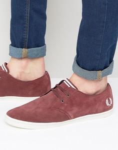 Низкие замшевые кроссовки Fred Perry Byron - Красный