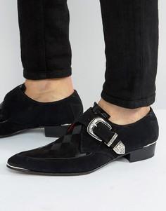 Замшевые туфли с пряжкой Jeffery West Adam Ant - Черный