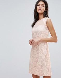 Кружевное цельнокройное платье Little Mistress - Розовый