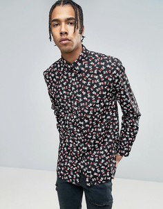 Рубашка с символом мира Love Moschino - Черный