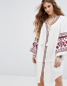 Платье с вышивкой Free People Clear - Белый