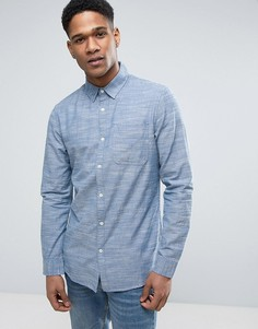 Голубая рубашка классического кроя из шамбре New Look - Синий