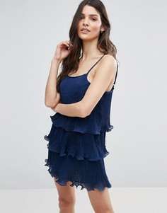 Ярусное плиссированное платье Jasmine - Темно-синий