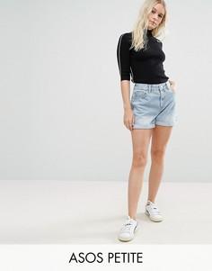 Выбеленные джинсовые шорты в винтажном стиле ASOS PETITE - Синий