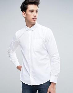 Белая рубашка слим на пуговицах Esprit - Белый