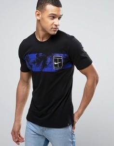 Черная футболка с логотипом Nike Court Box 847454-010 - Черный