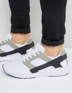 Белые кроссовки с черными резиновыми накладками ASOS - Белый