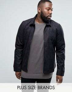 Куртка из искусственной замши D-Struct PLUS - Черный