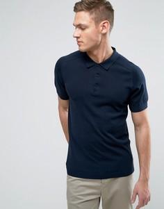 Трикотажная футболка-поло Selected Homme - Темно-синий