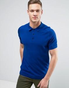 Трикотажная футболка-поло Selected Homme - Синий
