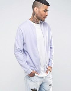 Фиолетовая трикотажная куртка-пилот ASOS - Фиолетовый
