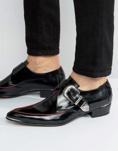 Кожаные туфли с пряжками Jeffery West Adam Ant - Черный