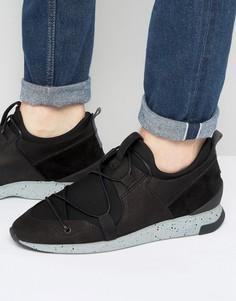 Замшевые кроссовки Hudson London Brodie - Черный