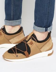 Замшевые кроссовки Hudson London Brodie - Светло-серый