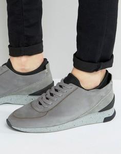 Кожаные кроссовки Hudson London Sime - Светло-серый