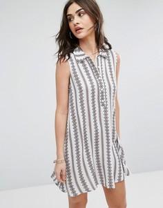 Платье-рубашка без рукавов Glamorous - Черный
