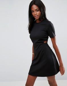 Платье мини с вырезами ASOS - Черный