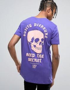 Удлиненная футболка с принтом ASOS - Фиолетовый