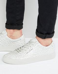 Кроссовки из кожи с мятым эффектом Religion - Белый