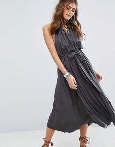 Платье миди Free People Spring Love - Серый
