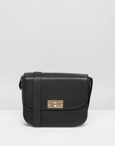 Кожаная сумка Selected - Черный