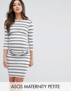 Облегающее платье в двойную полоску ASOS Maternity - Мульти