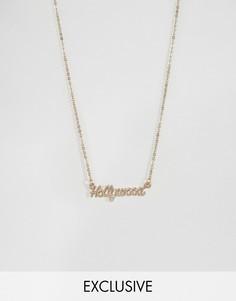 Ожерелье с подвеской Hollywood Reclaimed Vintage Inspired - Золотой