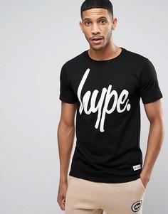 Черная футболка с логотипом Hype - Черный