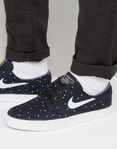 Черные парусиновые кроссовки Nike SB Stefan Janoski 705190-005 - Черный