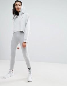 Серые леггинсы с логотипом Puma - Серый