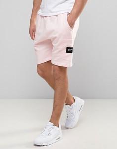 Розовые шорты с фирменной нашивкой Nicce London - Розовый