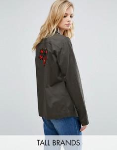 Легкая куртка-рубашка с вышивкой Kubban Tall - Зеленый