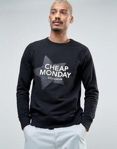 Свитер с принтом звезд Cheap Monday - Черный