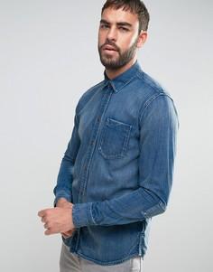 Джинсовая рубашка с длинными рукавами Nudie Jeans Co Henry - Синий