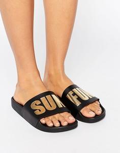Черные сандалии TheWhiteBrand - Черный