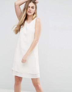 Цельнокройное платье с плиссированной подкладкой Vila - Белый
