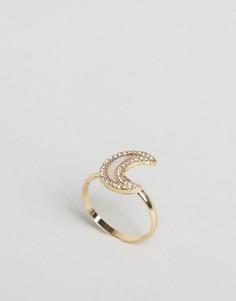 Кольцо с полумесяцем ASOS - Золотой