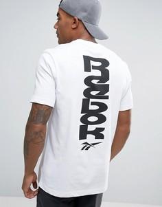 Белая футболка Reebok Vector BK6576 - Белый