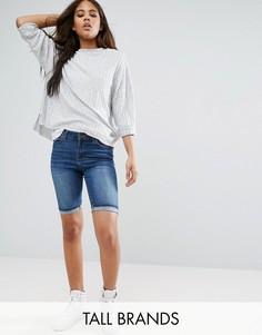 Удлиненные джинсовые шорты с отворотами Vero Moda Tall - Синий
