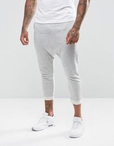 Спортивные штаны с заниженным шаговым швом ASOS - Серый