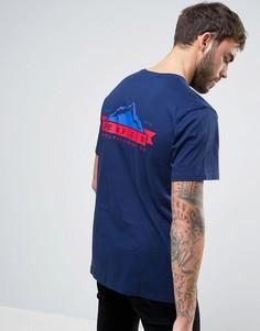 Эксклюзивная темно-синяя футболка с логотипом на спине Penfield - Темно-синий