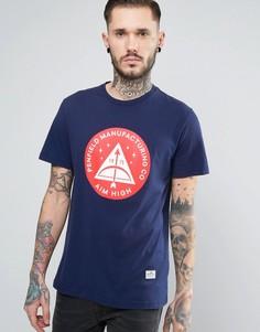 Темно-синяя футболка с принтом Penfield Aim High - Темно-синий