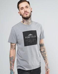 Серая меланжевая свободная футболка с логотипом Penfield Kemp - Серый