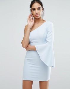 Платье мини на одно плечо Ginger Fizz - Синий