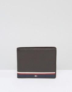 Кожаный кошелек Tommy Hilfiger - Коричневый