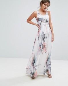 Декорированное платье макси с принтом Little Mistress - Мульти